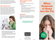 What to do? - When someone at home has the flu (brochure)