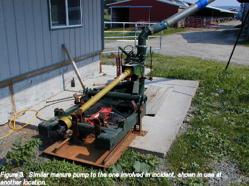 picture of similar manure pump to one involved in incident, shown in use at another location