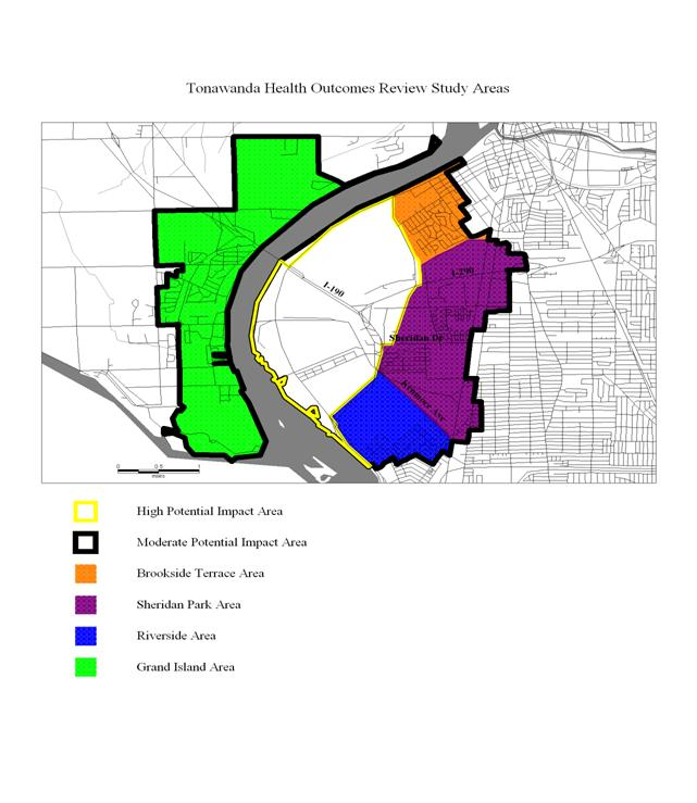 image of Tonawanda health outcomes review study areas