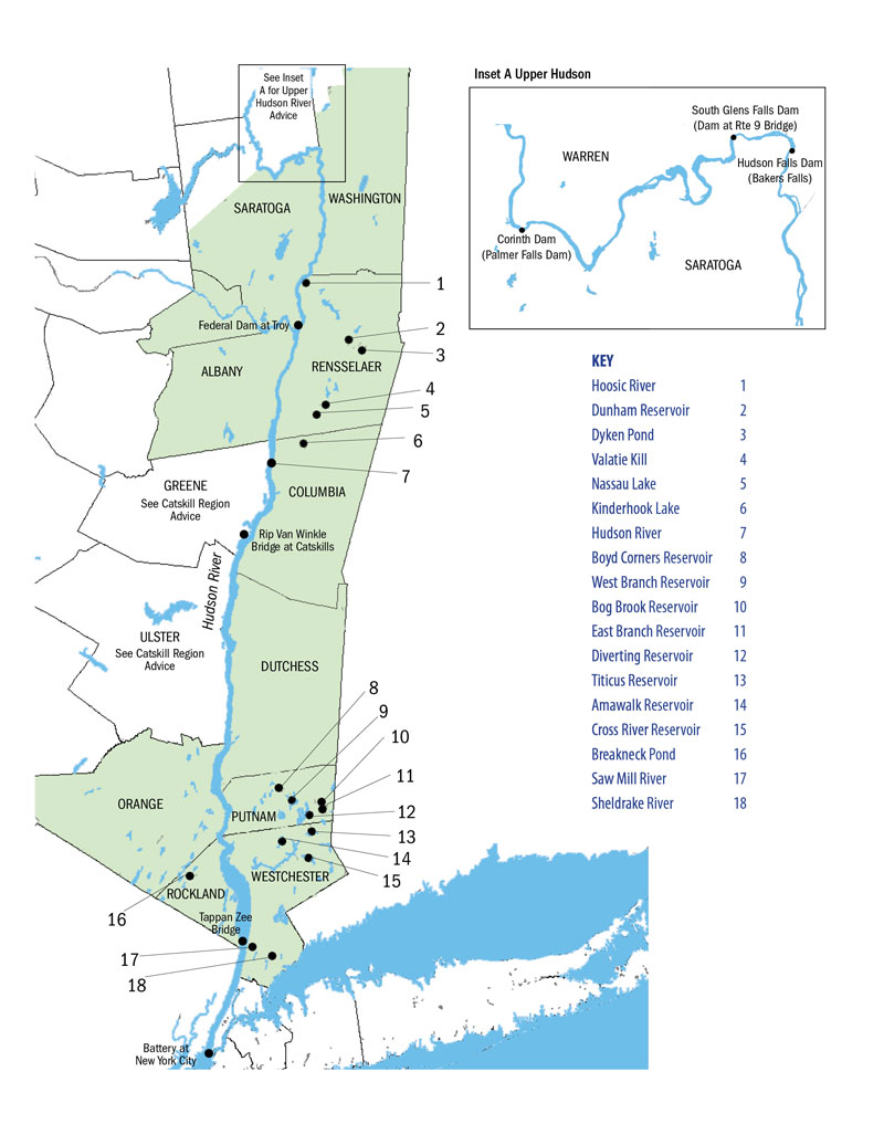 Map of the Hudson Valley Region