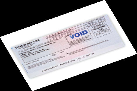 Picture of a WIC check